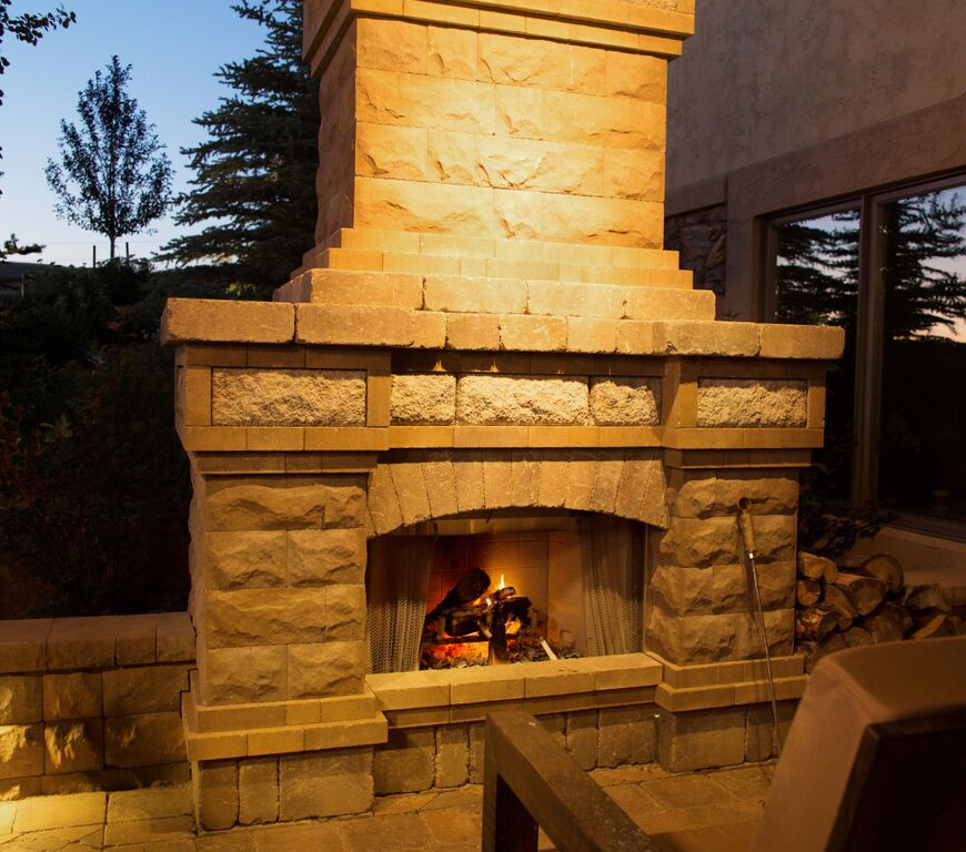 Outdoor fire place.