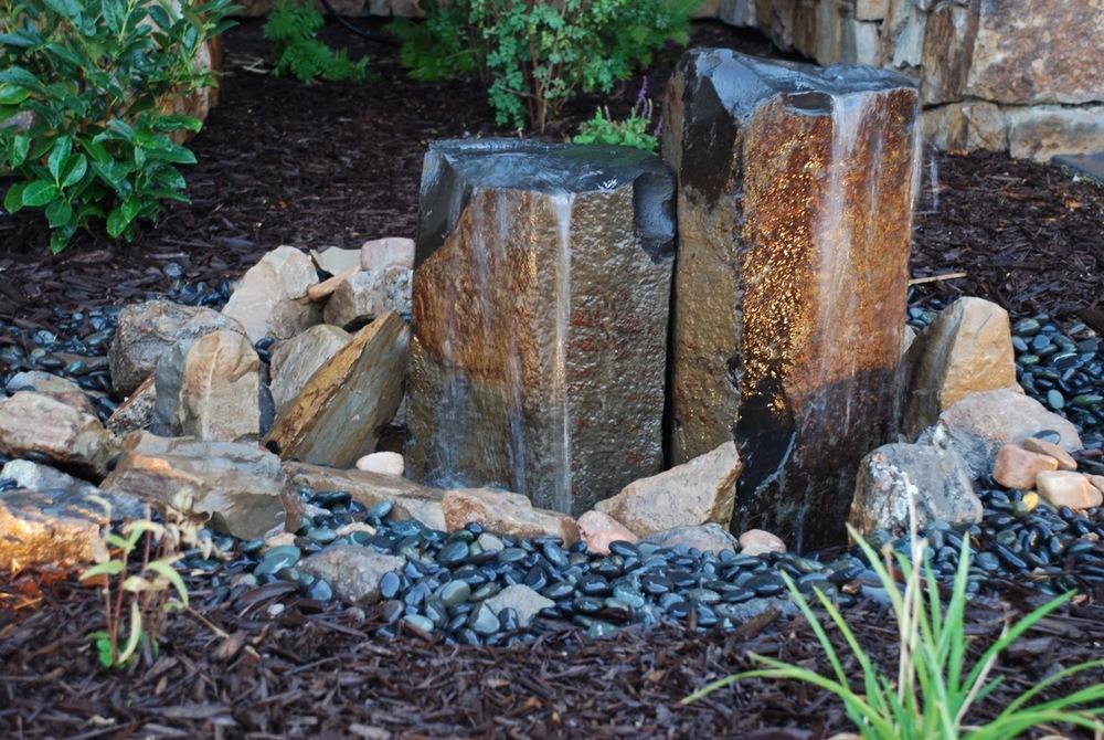 Garden water feature.