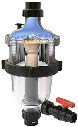 Multi Cyclone Pre-filter for swimming pools and spas.