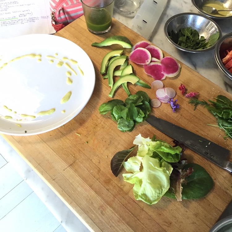 Prepping the Butter Lettuce Salad :)