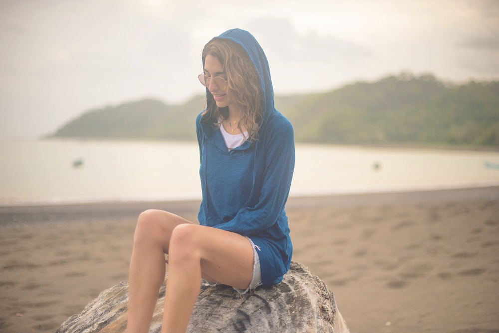 My favorite spot. Eco-friendly hoodie by Earth Yoga. Photo taken by Mike. :)
