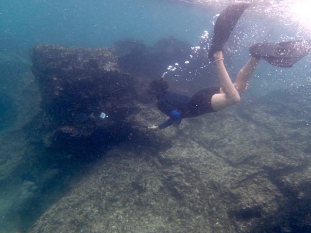 Bartolomé Island, Galapagos. Pikaia Lodge Tour. Chasing whitetip sharks!