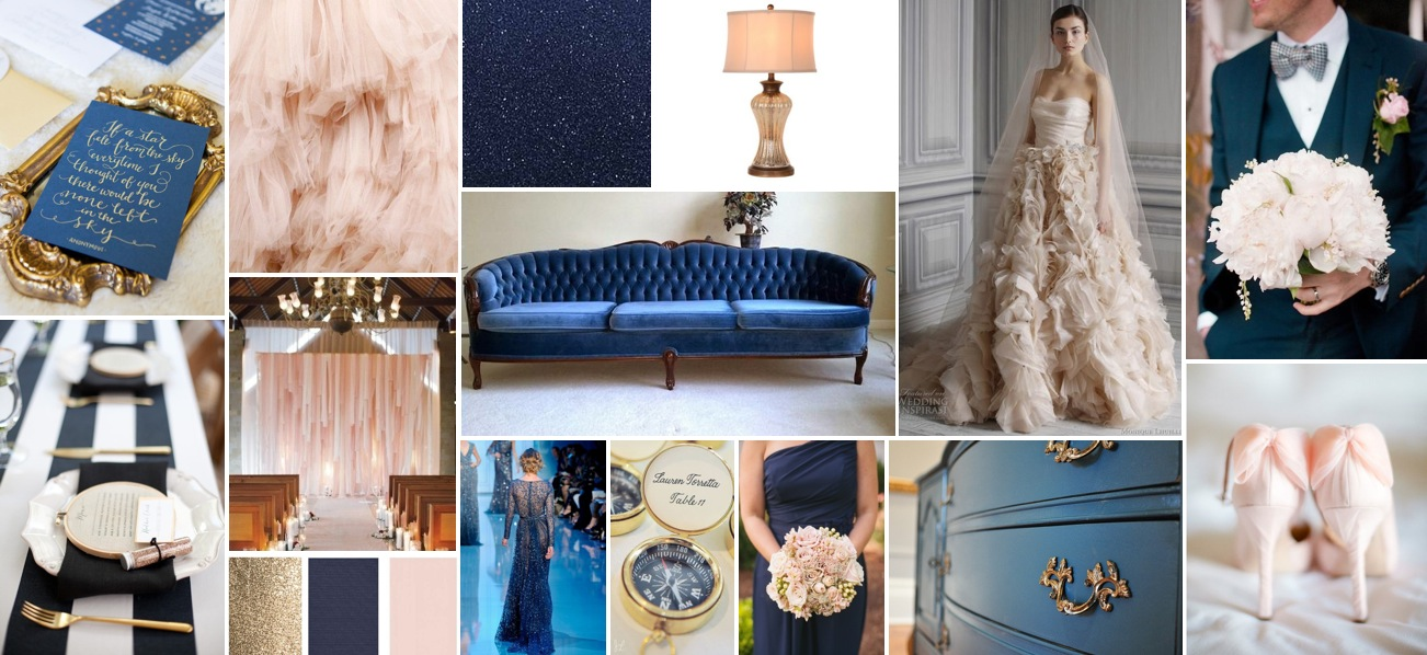 navy blush inspiration