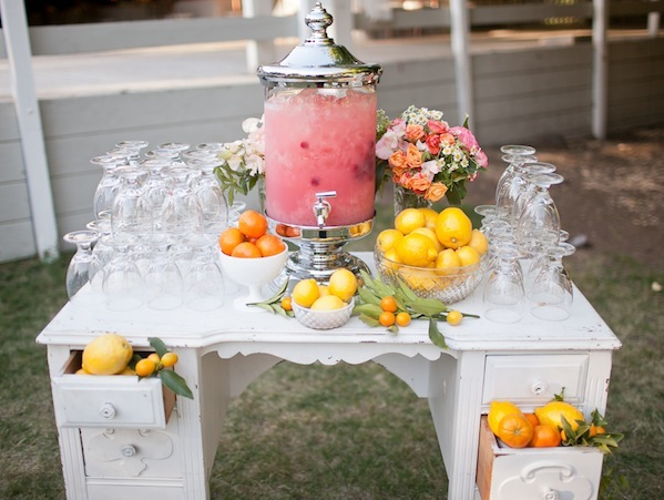 Lemonade Beverage Station