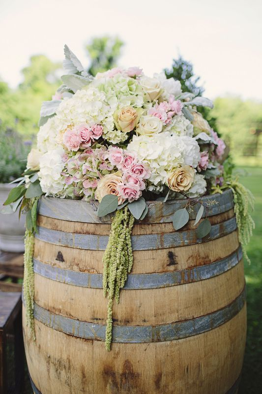 wine barrel floral