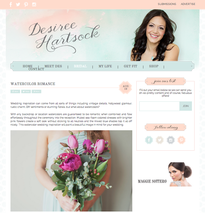 Desiree Hartsock Blog