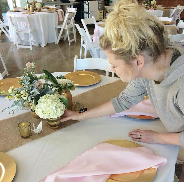Ella setting tables up