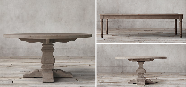 restoration hardware tables