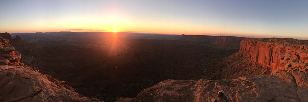 Sunset view from atop Canyonlands National Park's Island in the Sky.