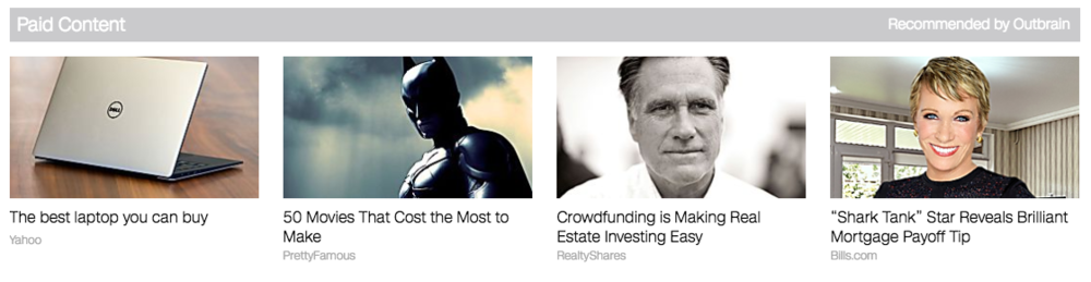 Outbrain sponsored stories on CNN.com's tech page.