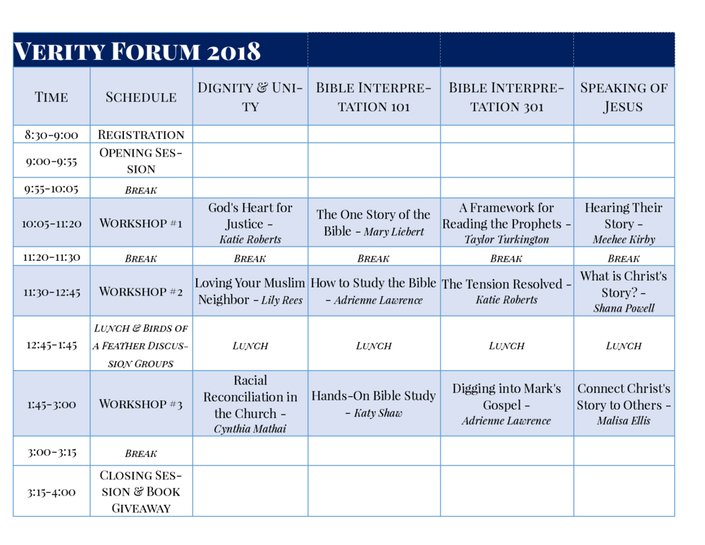 Click to Enlarge Schedule