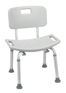 Mills Pond - Bathroom Safety Shower Tub Bench Chair with Back, Gray