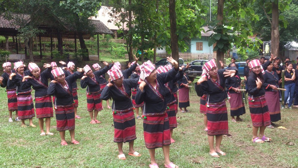 "Local traditional ""Lua"" dance in village"