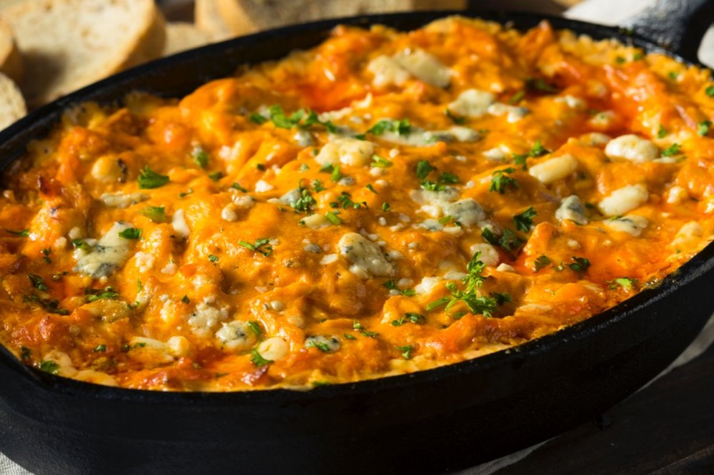 "1. The ""I just want to eat dip for supper"" Buffalo chicken dip"