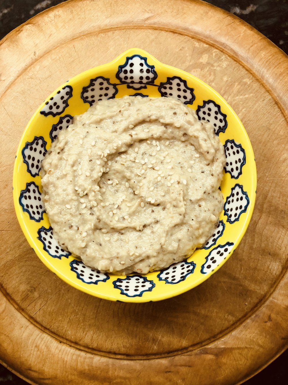"4. The ""Mediterranean nights"" Roasted Eggplant dip"