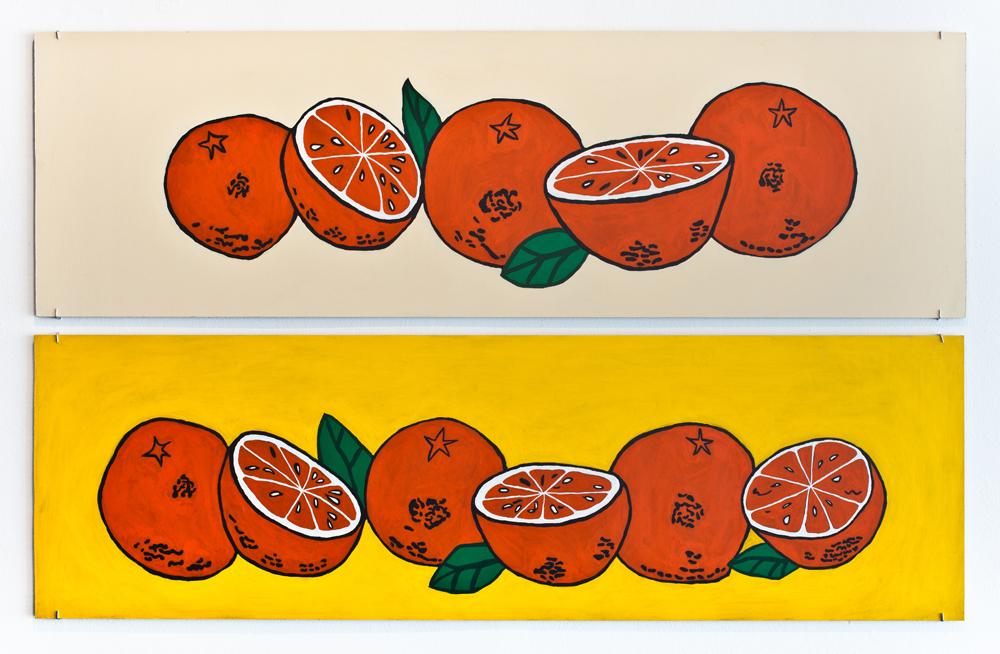 """""""Oranges Diptych"""" (2014)"""
