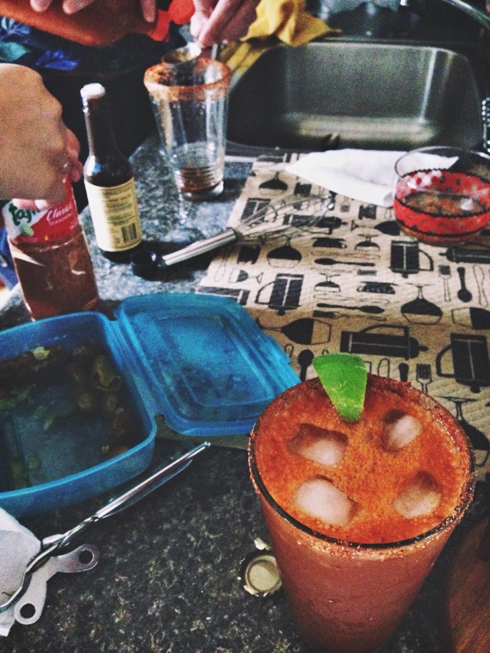 Sundays are for homemade micheladas. ¡Salud!
