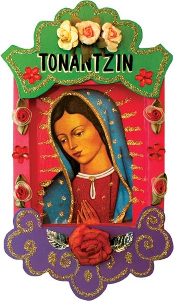 """xicanaspice :     """"My Virgen de Guadalupe is not the mother of God. She is God. She is a face for a god without a face, an indigena for a god without ethnicity, a female deity for a god who is genderless, but I also understand that for her to approach me, for me to finally open doors and accept her, she had to be a woman like me….  Blessed art thou, Lupe, and, therefore, blessed am I.""""  - From Sandra Cisneros , """" Guadalupe the Sex Goddess """""""