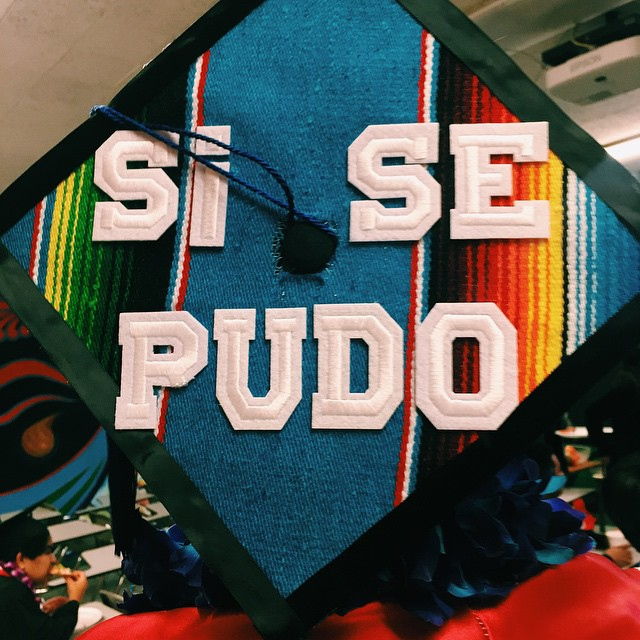 michelle-ada :     S/o to all the grads out there✊🏾✨🇲🇽   #chicanapower #chicanxpower #chicanopower (at California State University, Northridge)