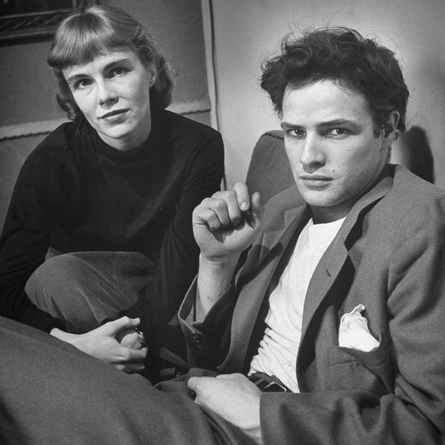 life :     Marlon Brando with his sister Jocelyn, 1948. (Lisa Larsen—The LIFE Images Collection/Getty Images) #LIFElegends