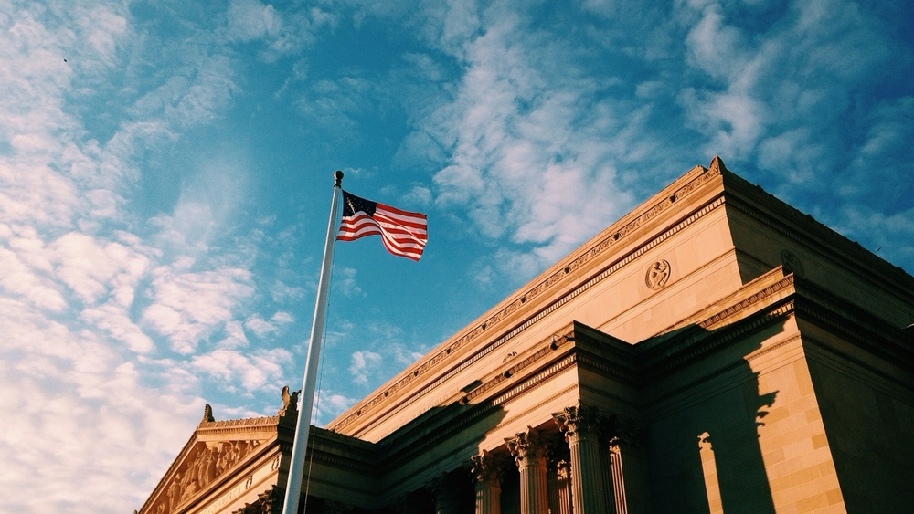 US Archives golden hour.
