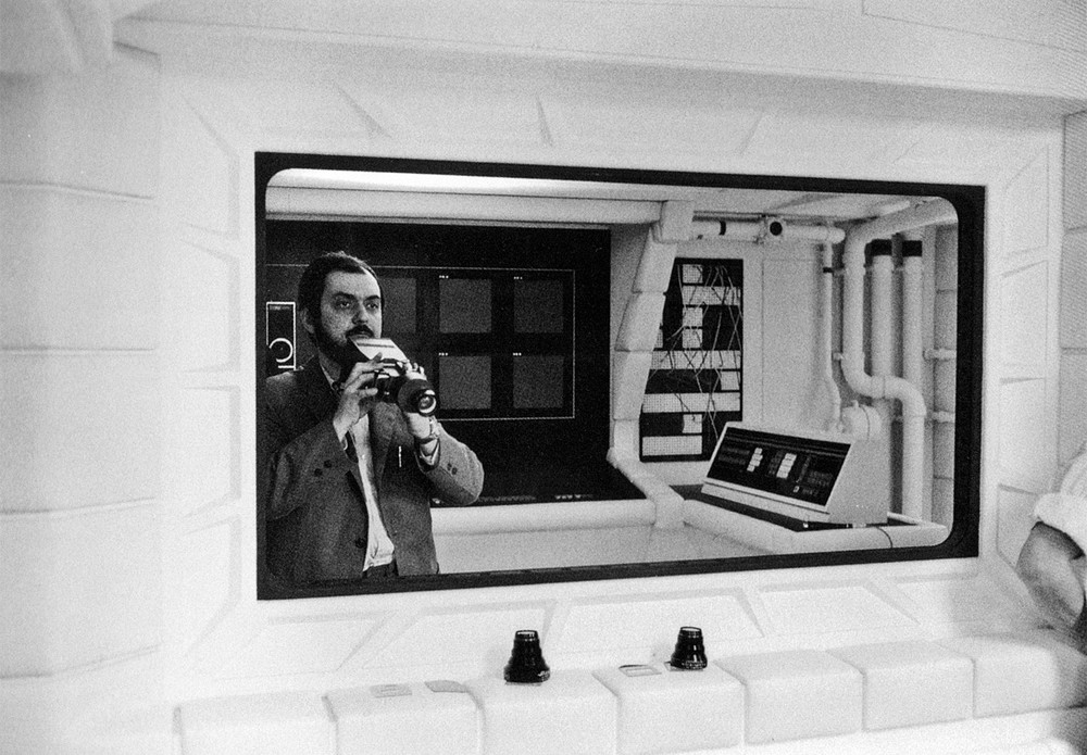fuckyeahbehindthescenes :              Stanley Kubrick worked for several months with effects technicians to come up with a convincing effect for the floating pen in the shuttle sequence. After trying many different techniques, without success, Kubrick decided to simply use a pen that was taped to a sheet of glass and suspended in front of the camera. ( x )       2001: A Space Odyssey (1968)