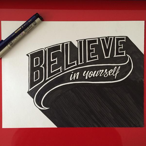 visualgraphc :     Believe in yourself by Priska