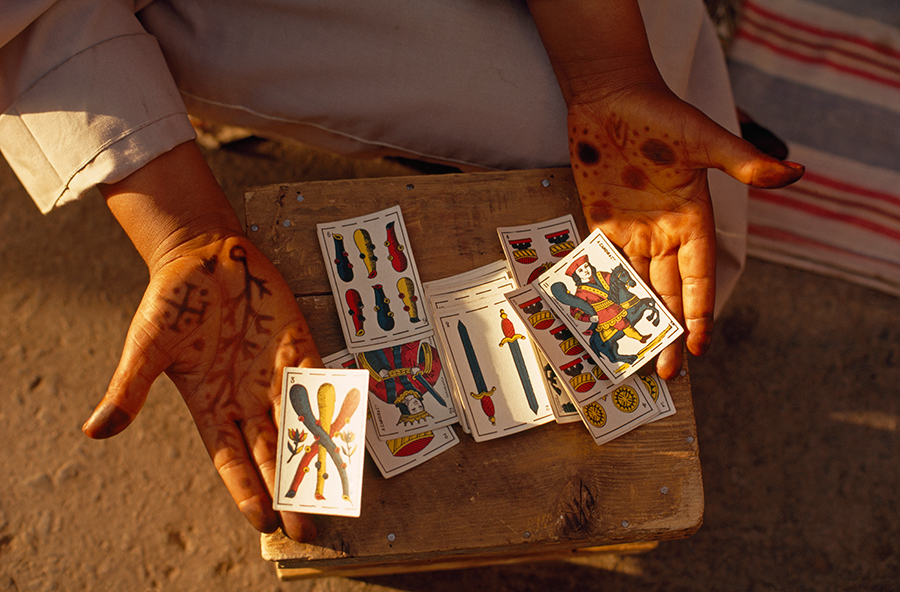 natgeofound :     A fortune teller displays her cards in Jemaa el Fna square in Marrakesh, Morocco, June 1971. Photograph by Thomas J. Abercrombie, National Geographic