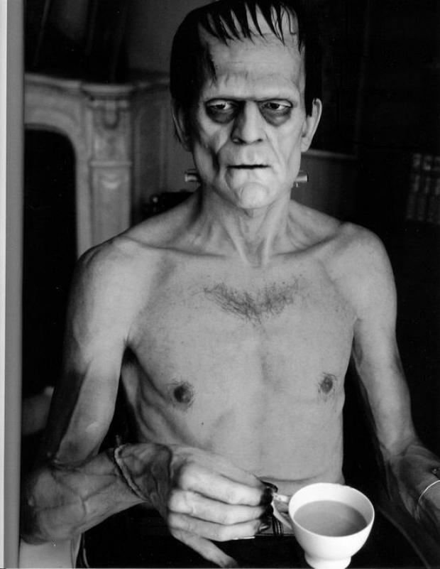 back-then :     Boris Karloff drinking tea. 1931