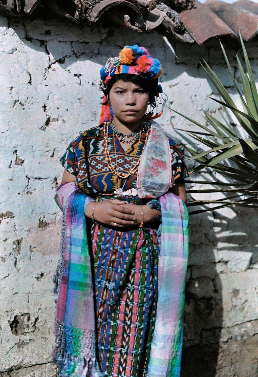 natgeofound :     A young girl dressed in traditional clothing leans against a wall in Guatemala, November 1926. Photograph by Jacob J. Gayer, National Geographic