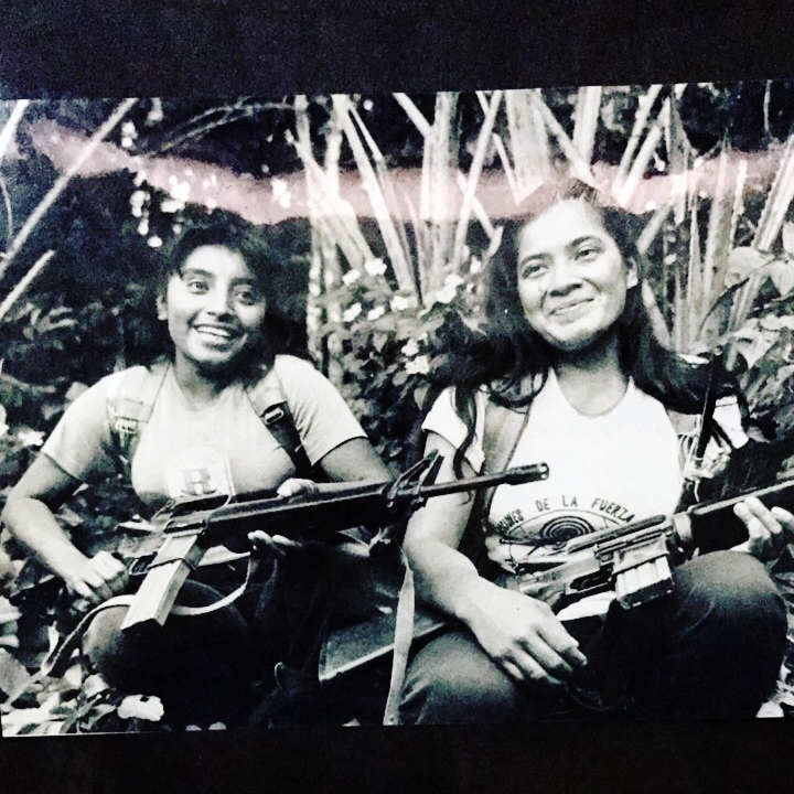 Two young women in the guerrilla