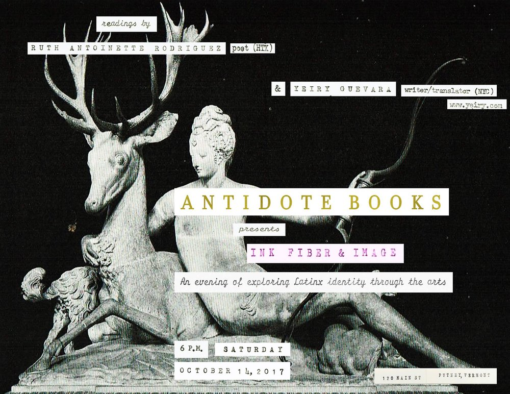 INK FIBER IMAGE - Organized by Antidote Books in Putney, RVT