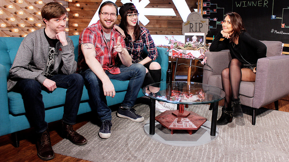 I was a guest on Nerdist's daily live show while out in California for WonderCon. (from left to right)  Lee Travis ;  Dan Casey , Senior Editor for Nerdist;  Rachel Heine , Editor in Chief for Nerdist; and  Jessica Chobot .