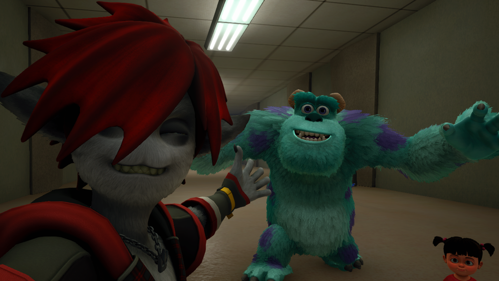 Selfie with Sully, Boo, and Sora