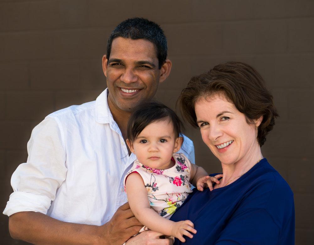 Balwan, Varsha, and Sharon