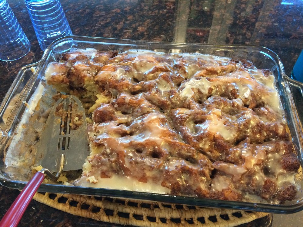 Our hostess in Brandon had hot cinnamon loaf waiting for us in the kitchen when we pulled into the driveway!
