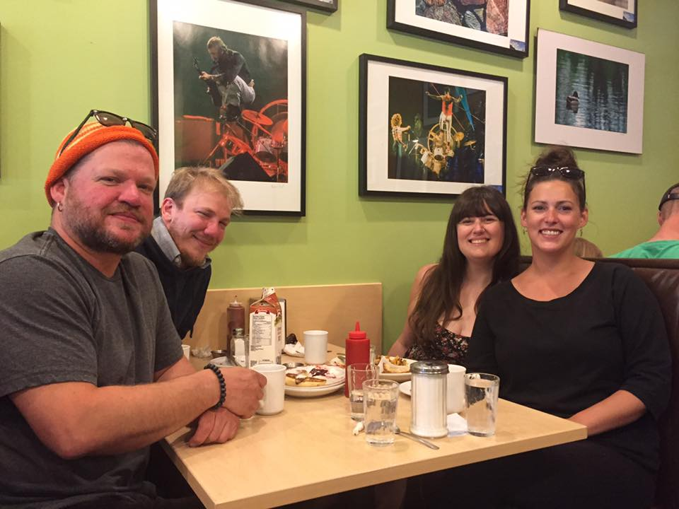 Brunch with The Deeds and Kira who we had the pleasure of hanging out with both ways through Winnipeg.