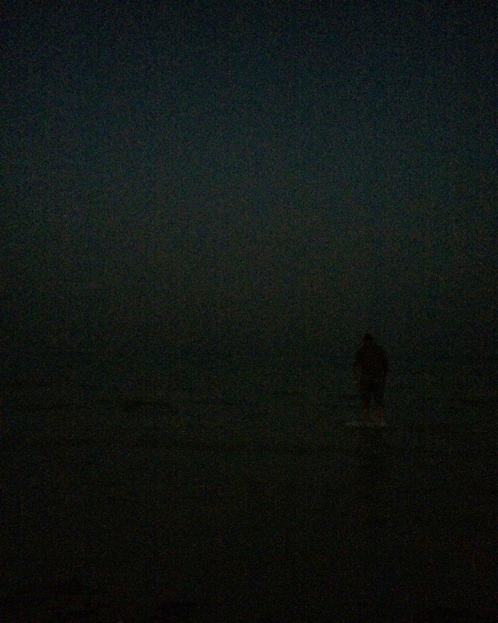 Fahad on the beach at Souq Al Wakra.
