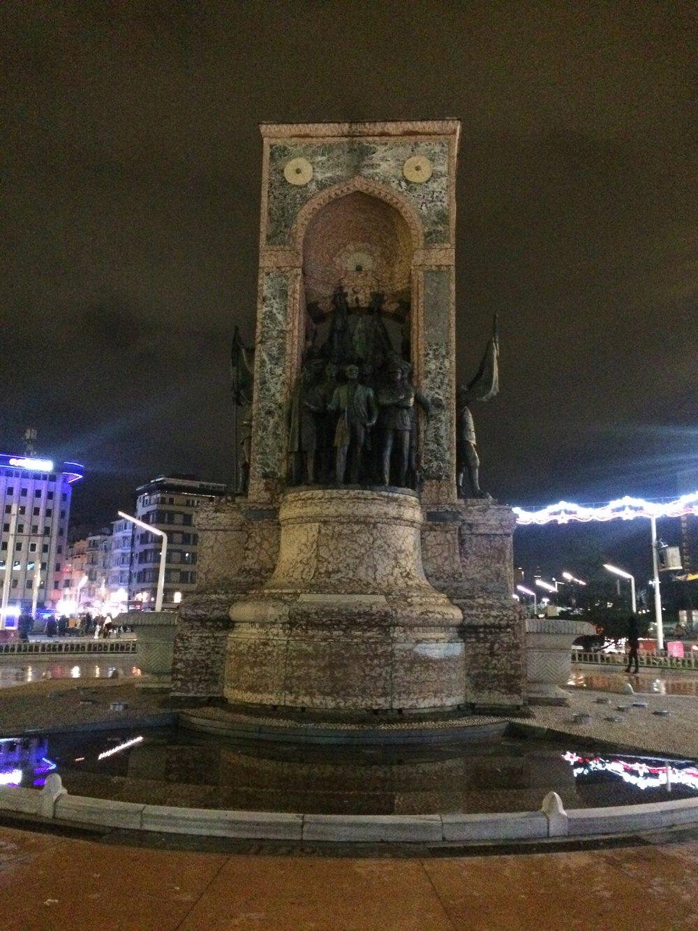 The Republic Monument at Taksim Square.