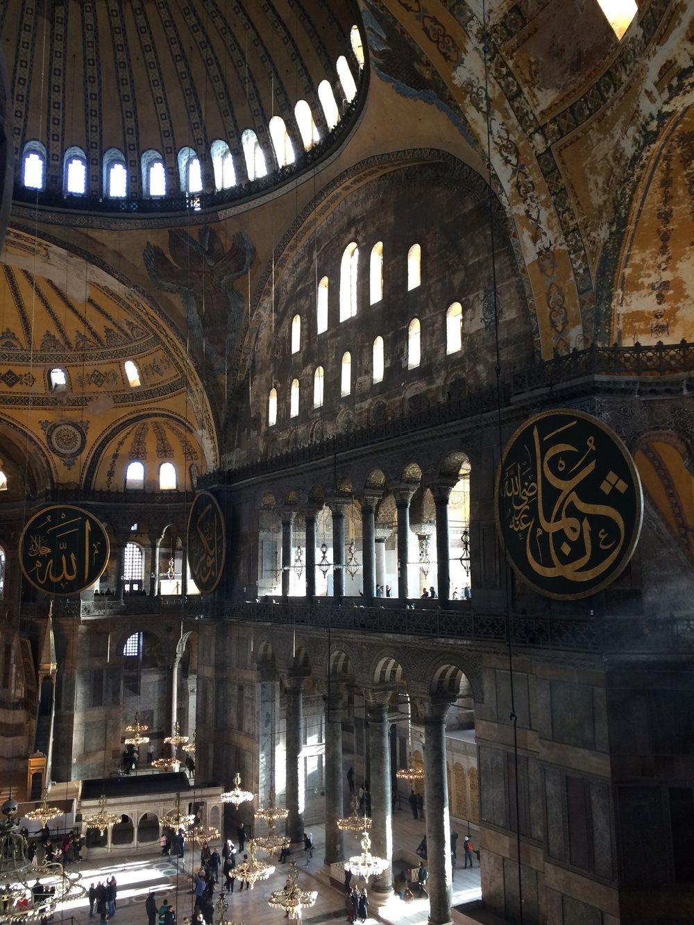 Inside the Ayasofya / Hagia Sophia.