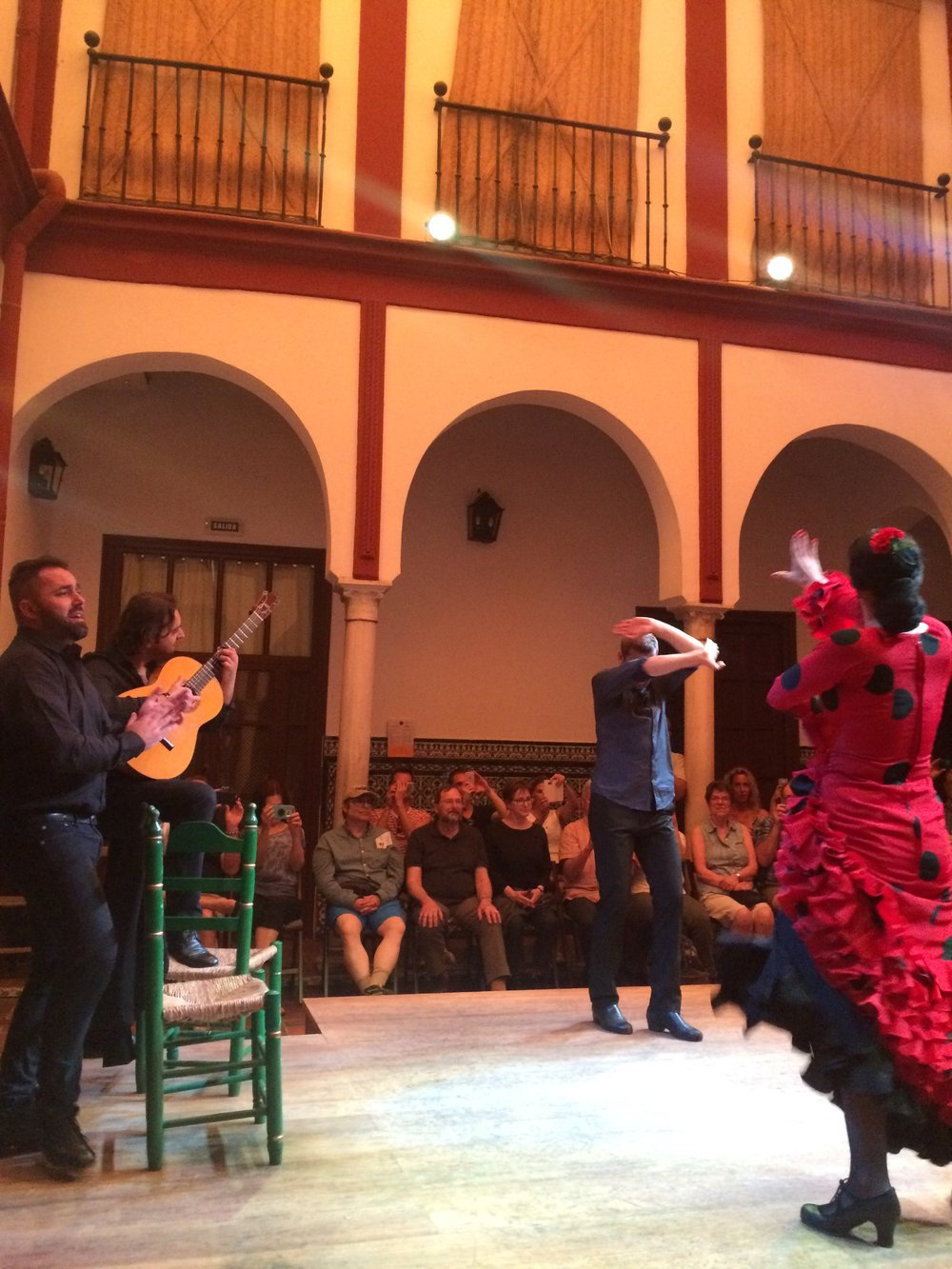 Flamenco. It was totally put on for tourists, but the music was actually great!