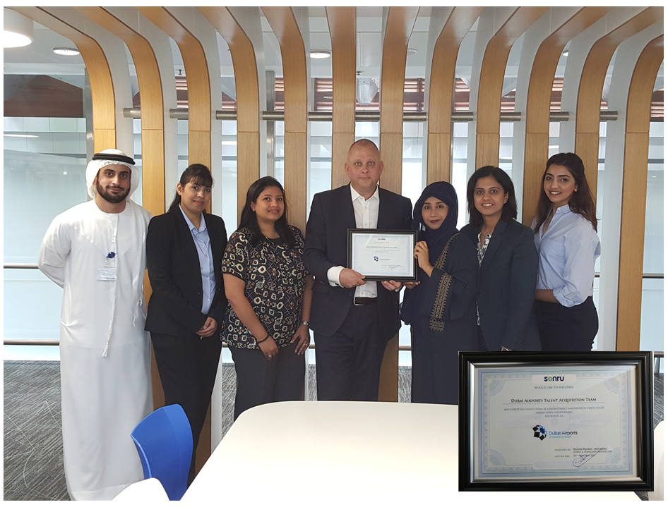 (pictured: Matthew Windett – Director Talent Acquisition with his team at Dubai Airports)
