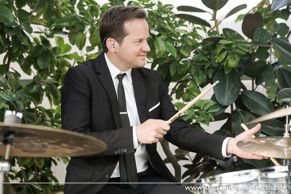 Bart on the drums.@utahbridemag #UBGWhiteParty Photo credit: Angel Howard Photography