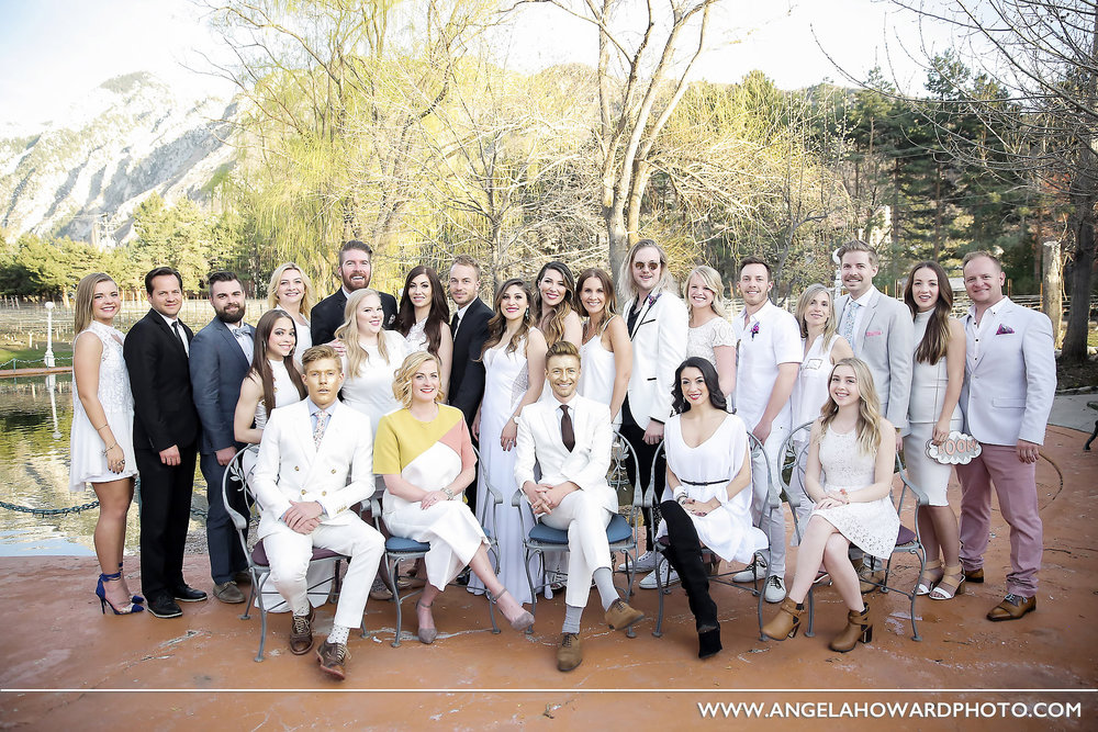 We were in such good company with all of these talented pros. #bestinthebusiness @utahbridemag #UBGWhiteParty Photo credit: Angel Howard Photography