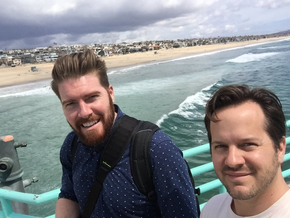 Bart and Conn in Los Angeles on the pier