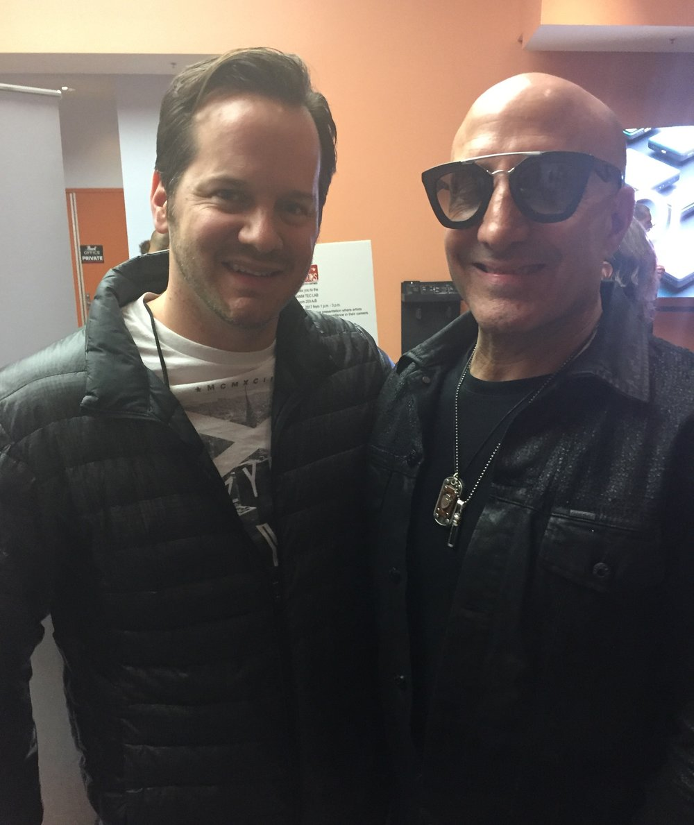 Me with the great Kenny Aronoff. Such an incredible musician.