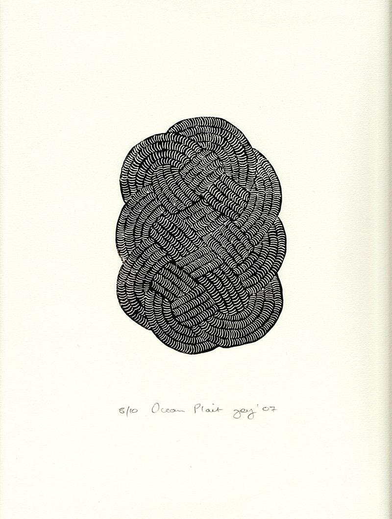 'Ocean Plait' Lino Print – Rachel Joy