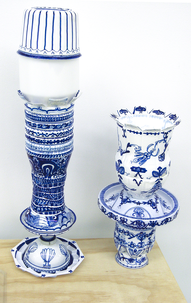 Sarah Goffman, Blue and White, 2009, Group Show, Breenspace, Sydney (photo: Jamie North)
