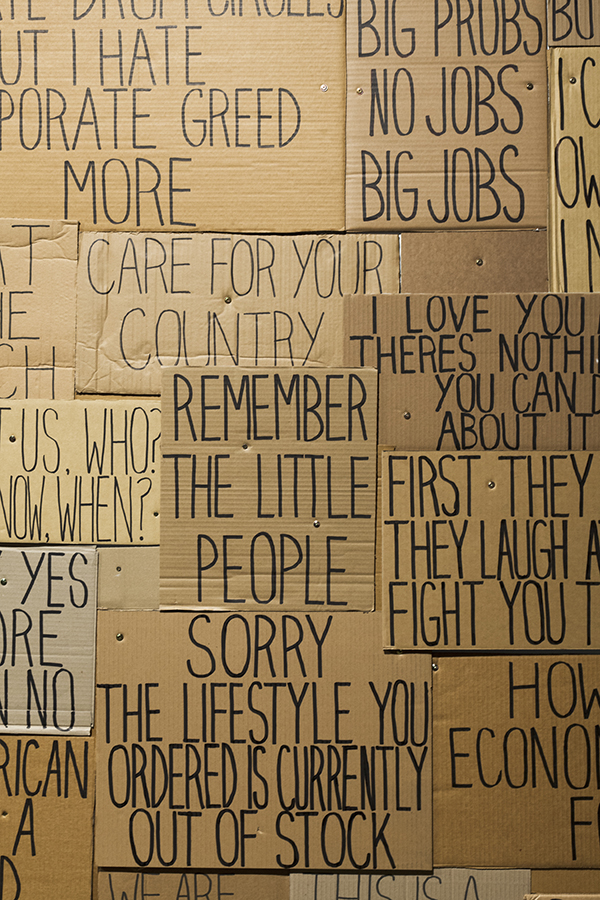 Sarah Goffman, Occupy Sydney, 2012, Everything Falls Apart, curator Mark Feary, Artspace, Sydney