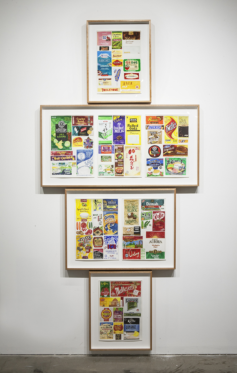 Sarah Goffman, Seven days of packaging, 2013 in JANIS II, 2013, Mclemoi Gallery, Sydney (photo: Jessica Maurer)
